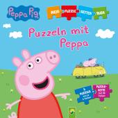Peppa Pig - Puzzeln mit Peppa. Puzzle-Ketten-Buch mit 5 Puzzles mit je 6 Teilen
