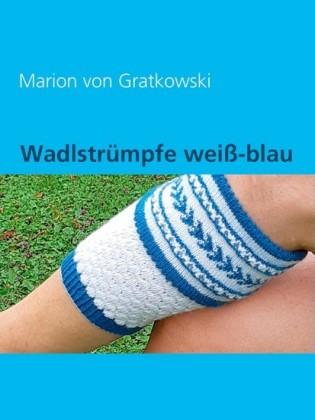 Wadlstrümpfe weiß-blau