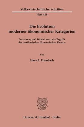 Die Evolution moderner ökonomischer Kategorien.
