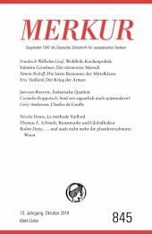 MERKUR Gegründet 1947 als Deutsche Zeitschrift für europäisches Denken - 2019-10