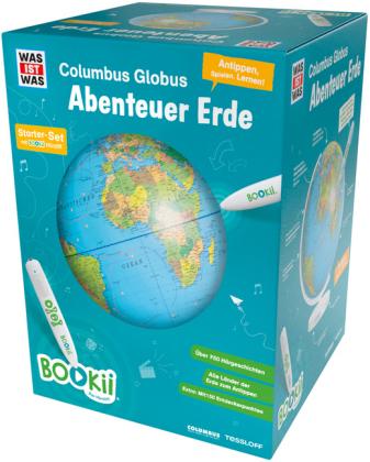 """BOOKii® WAS IST WAS Columbus Globus """"Abenteuer Erde"""", Starter-Set"""