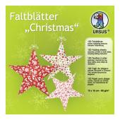 """URSUS Faltblätter """"Christmas"""", 15 x 15 cm"""