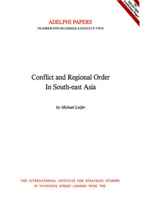 Conflict and Regional Order in Southeast Asia
