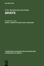 Briefe an deutsche Verleger