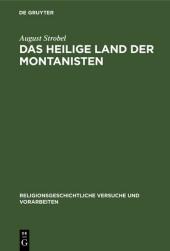 Das heilige Land der Montanisten