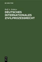 Deutsches Internationales Zivilprozeßrecht