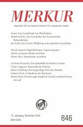 MERKUR Gegründet 1947 als Deutsche Zeitschrift für europäisches Denken - 2019-11
