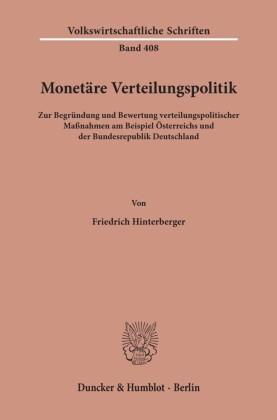 Monetäre Verteilungspolitik.