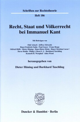 Recht, Staat und Völkerrecht bei Immanuel Kant.