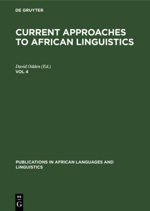 Current Approaches to African Linguistics. Vol 4