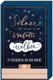 Schnee ist auch nur Konfetti auf den Wolken, 24 Postkarten für den Advent
