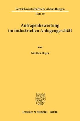 Anfragenbewertung im industriellen Anlagengeschäft.