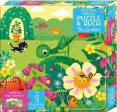 Erstes Puzzle & Buch: Im Garten (Kinderpuzzle)