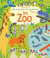 Mein erstes Spiel-, Mal- und Ratebuch: Im Zoo