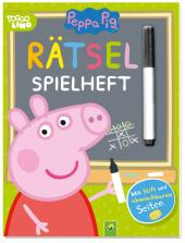 Peppa Pig - Rätsel-Spielheft. Mit Stift und abwischbaren Seiten