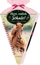 Schultüten-Kratzelbuch - Pferdefreunde - Hurra, endlich Schule!