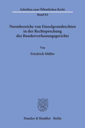 Normbereiche von Einzelgrundrechten in der Rechtsprechung des Bundesverfassungsgerichts.
