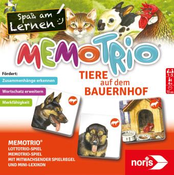 MemoTrio Tiere auf dem Bauernhof (Kinderspiel)