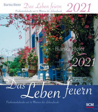 Das Leben feiern, Postkartenkalender 2021