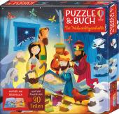 Puzzle & Buch: Die Weihnachtsgeschichte (Kinderpuzzle)
