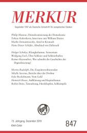 MERKUR Gegründet 1947 als Deutsche Zeitschrift für europäisches Denken