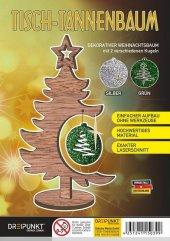 Tisch-Tannenbaum (Grün/Silber)