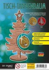 Tisch-Tannenbaum (Rot/Gold)