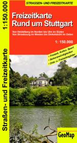 Rund um Stuttgart - Freizeit- und Strassenkarte