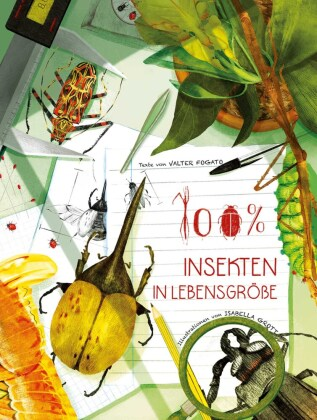 100% Insekten in Lebensgröße