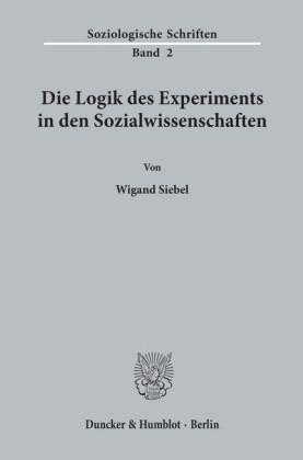 Die Logik des Experiments in den Sozialwissenschaften.
