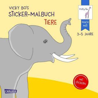 Vicky Bo's Sticker-Malbuch Tiere