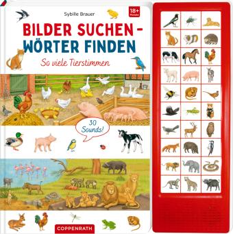 Bilder suchen - Wörter finden - So viele Tierstimmen, m. Soundleiste