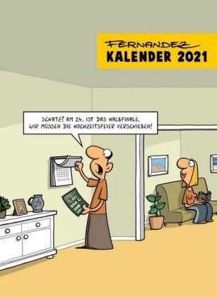 Fernandez Cartoon-Wandkalender 2021