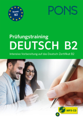 PONS Prüfungstraining Deutsch B2, m. Audio-CD, MP3 Cover