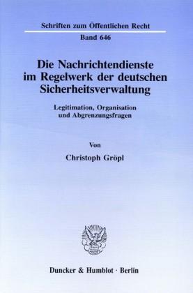 Die Nachrichtendienste im Regelwerk der deutschen Sicherheitsverwaltung.