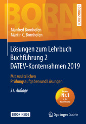 Lösungen zum Lehrbuch Buchführung 2 DATEV-Kontenrahmen 2019, m. 1 Buch, m. 1 E-Book; . Cover