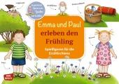 Emma und Paul erleben den Frühling. Spielfiguren für die Erzählschiene