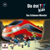 Die drei ??? Kids - Schienen-Monster, 1 Audio-CD Cover