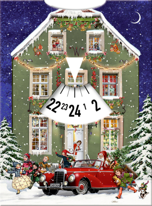 Adventskalender-Drehscheibe - Warten auf Weihnachten