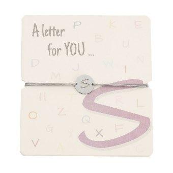 Armband mit Buchstaben - S