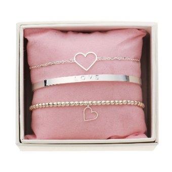 Geschenkset - Armbänder - Simply the best - Herz