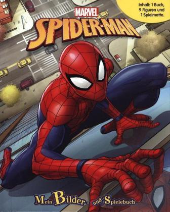 Spiderman, Spielbuch + 8-10 Spielfiguren + Spielmatte