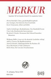 MERKUR Gegründet 1947 als Deutsche Zeitschrift für europäisches Denken - 2020-02