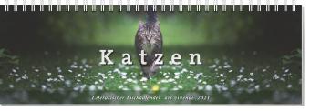 Literarischer Tischkalender Katzen 2021