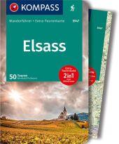 KOMPASS Wanderführer Elsass, m. 1 Karte