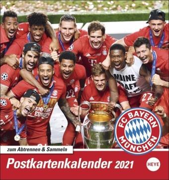 FC Bayern München Postkartenkalender 2021, Band 1