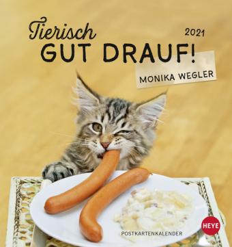 Tierisch gut drauf! Postkartenkalender 2021