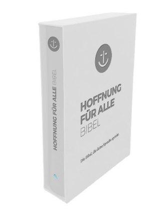 """Hoffnung für alle. Die Bibel - """"White Hope Geschenkbibel"""" - Großformat mit Blindprägung im weißen Schuber"""