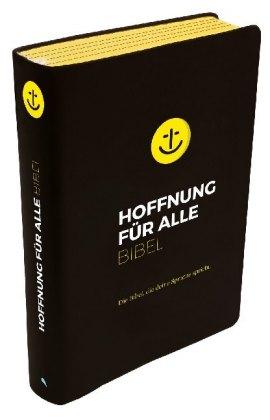 """Hoffnung für alle. Die Bibel - """"Black Hope Edition"""" Großformat mit Loch-Stanzung"""