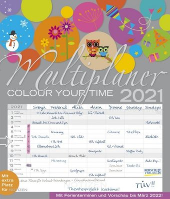 Multiplaner - Colour your time 2021